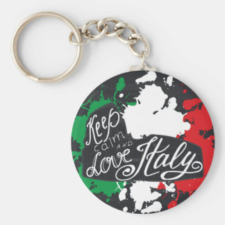 Keep Calm and Love Italy Keychain