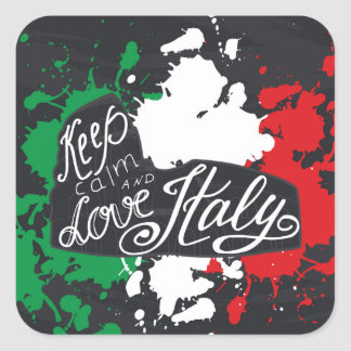 Keep Calm and Love Italy Square Sticker