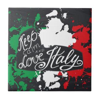 Keep Calm and Love Italy Tile