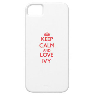 Keep Calm and Love Ivy iPhone 5 Cover