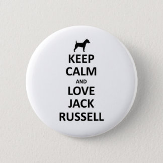 Keep calm and love Jack russell.jpg 2 Inch Round Button