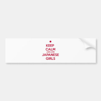 Keep Calm and Love Japanese Girls Bumper Sticker