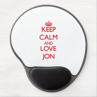 Keep Calm and Love Jon Gel Mouse Pad