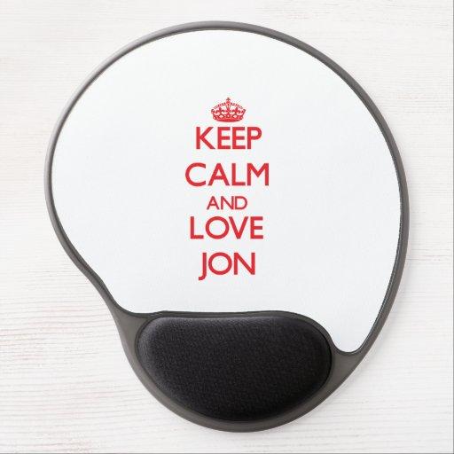 Keep Calm and Love Jon Gel Mousepads