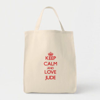 Keep Calm and Love Jude Canvas Bag
