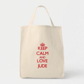 Keep Calm and Love Jude Canvas Bag