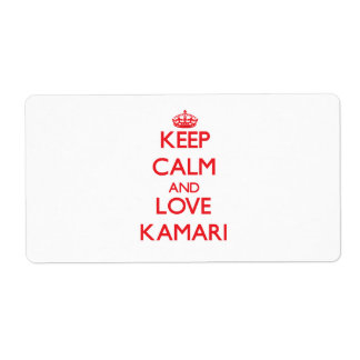 Keep Calm and Love Kamari Personalized Shipping Labels