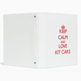 Keep calm and love Kit Cars Binders