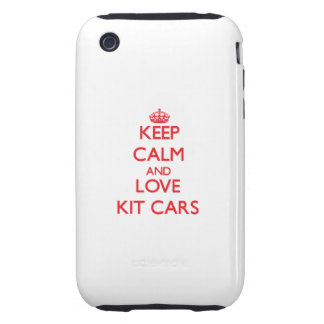 Keep calm and love Kit Cars Tough iPhone 3 Covers