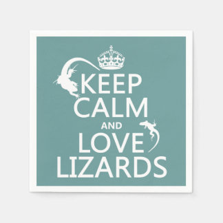 Keep Calm and Love Lizards - all colors Paper Napkins