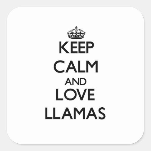 Keep calm and Love Llamas Stickers