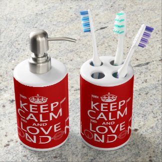 Keep Calm and Love London Toothbrush Holder