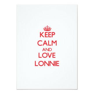 """Keep Calm and Love Lonnie 5"""" X 7"""" Invitation Card"""