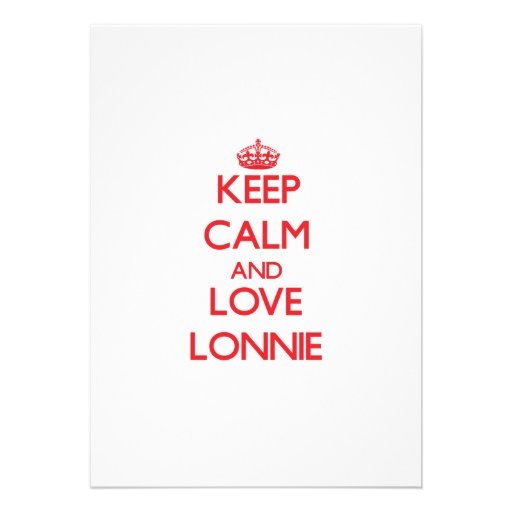 Keep Calm and Love Lonnie Personalized Announcement
