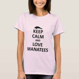 Keep calm and love manatees T-Shirt