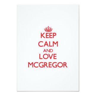"Keep calm and love Mcgregor 5"" X 7"" Invitation Card"