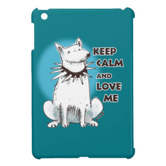 keep calm and love me cartoon style illustration iPad mini case