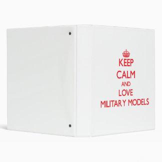 Keep calm and love Military Models Vinyl Binder