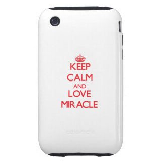 Keep Calm and Love Miracle Tough iPhone 3 Cover