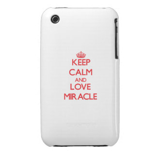 Keep Calm and Love Miracle iPhone 3 Case