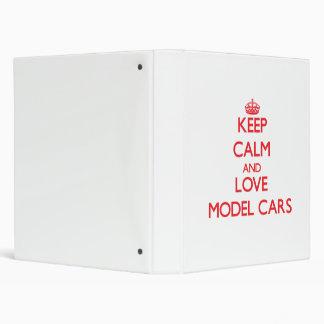 Keep calm and love Model Cars Vinyl Binder