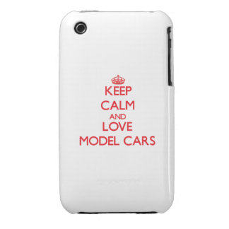 Keep calm and love Model Cars iPhone 3 Case-Mate Cases