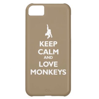 Keep Calm and Love Monkeys (khaki) iPhone 5C Covers