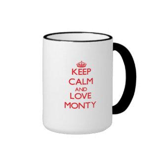 Keep Calm and Love Monty Coffee Mugs