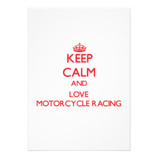 Keep calm and love Motorcycle Racing Announcements