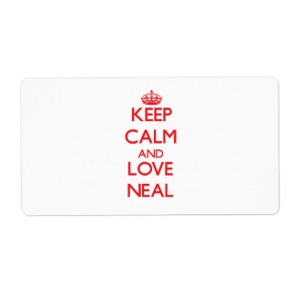 Keep Calm and Love Neal Shipping Label