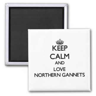 Keep calm and Love Northern Gannets Square Magnet