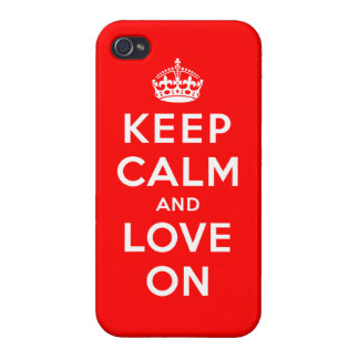 Keep Calm and Love On Case For iPhone 4