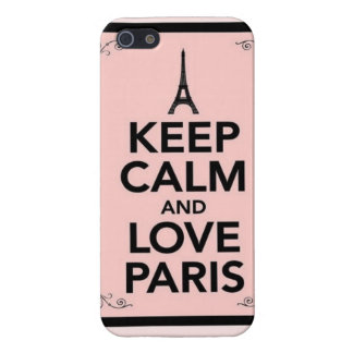Keep calm and love Paris iPhone 5/5S Cover