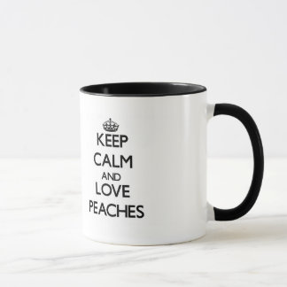 Keep calm and love Peaches Mug