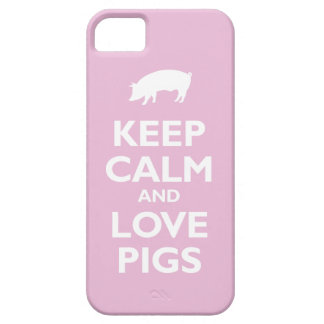 Keep Calm and Love Pigs (light pink) iPhone 5 Cases