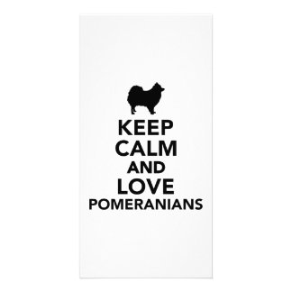 Keep calm and love Pomeranians Customized Photo Card