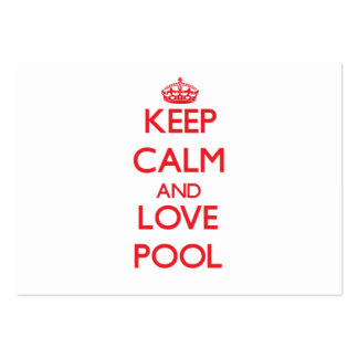 Keep calm and love Pool Business Card Template