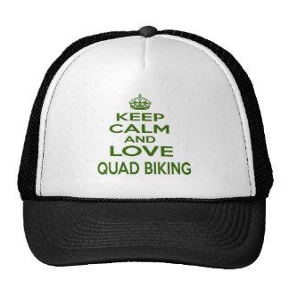 Keep Calm And Love Quad Biking Mesh Hats