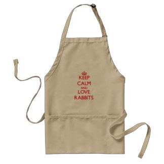 Keep calm and love Rabbits Standard Apron