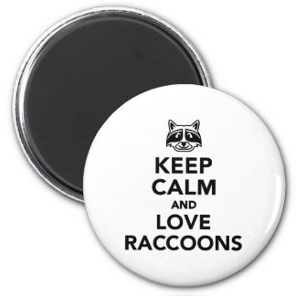 Keep calm and love raccoons magnet