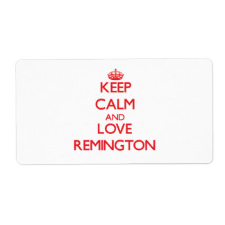 Keep Calm and Love Remington Shipping Label