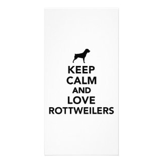Keep calm and love Rottweilers Photo Card