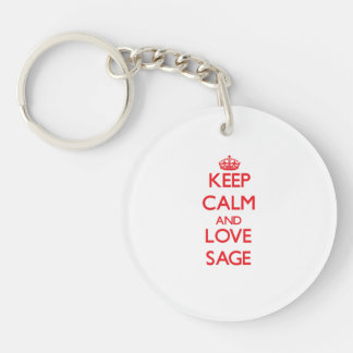 Keep Calm and Love Sage Acrylic Key Chains