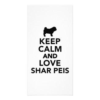 Keep calm and love Shar Peis Photo Card Template