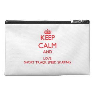 Keep calm and love Short Track Speed Skating Travel Accessory Bag