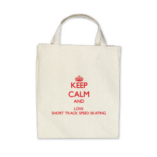 Keep calm and love Short Track Speed Skating Bags
