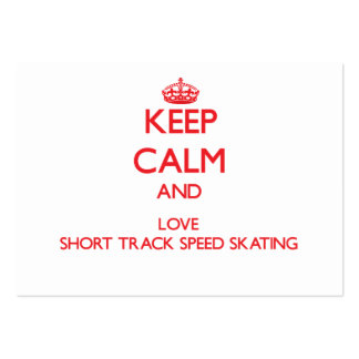 Keep calm and love Short Track Speed Skating Business Card Template