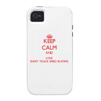 Keep calm and love Short Track Speed Skating Vibe iPhone 4 Cover