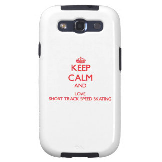 Keep calm and love Short Track Speed Skating Galaxy SIII Cover