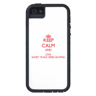 Keep calm and love Short Track Speed Skating iPhone 5 Cover
